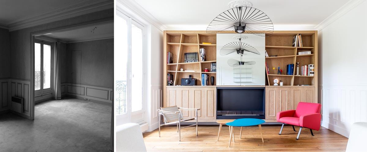 Rénovation d\'un appartement 3 pièces par un architecte d\'intérieur à ...