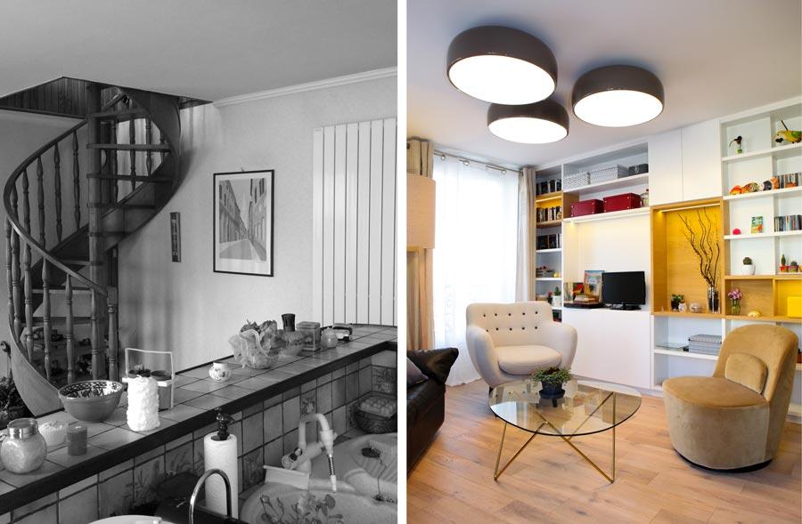 avant apr s r novation d 39 un appartement 2 pi ces de 50m2. Black Bedroom Furniture Sets. Home Design Ideas