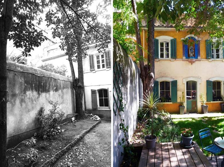 Am nagement d 39 un jardin d 39 une maison de ville par un jardinier paysagiste montpellier - Terrasse et jardin en ville montpellier ...