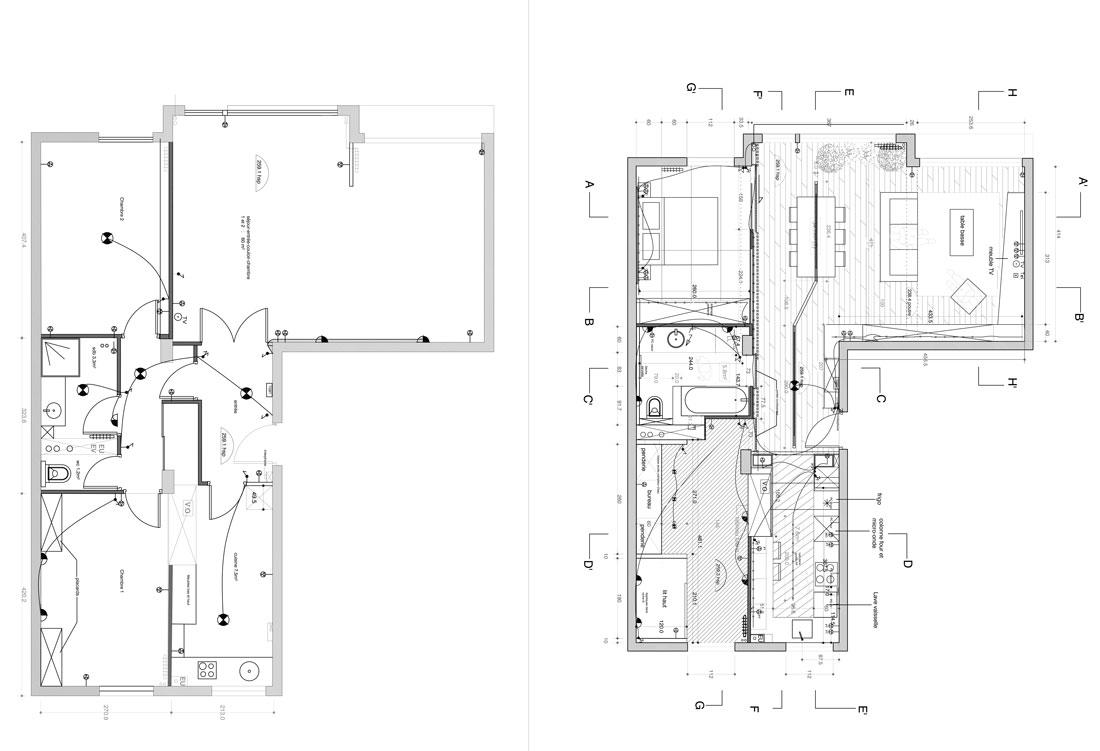 r novation d 39 une appartement 3 pi ces par un architecte d 39 int rieur montpellier. Black Bedroom Furniture Sets. Home Design Ideas