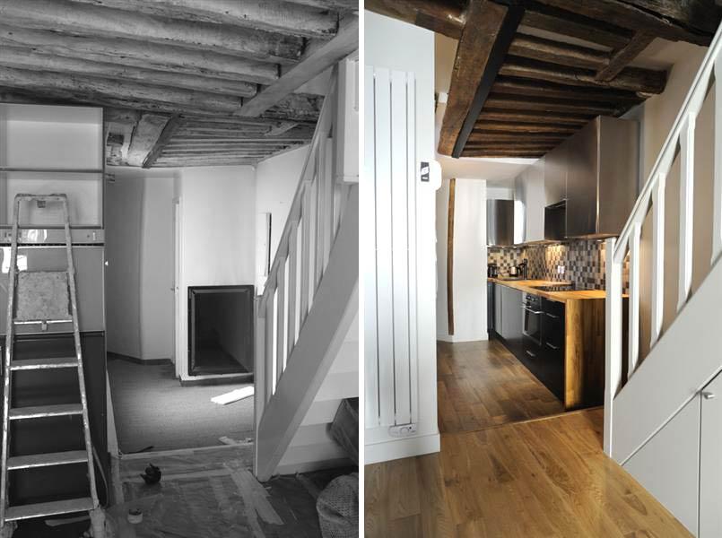 Rénovation d\'un appartement 3 pièces en duplex à Montpellier