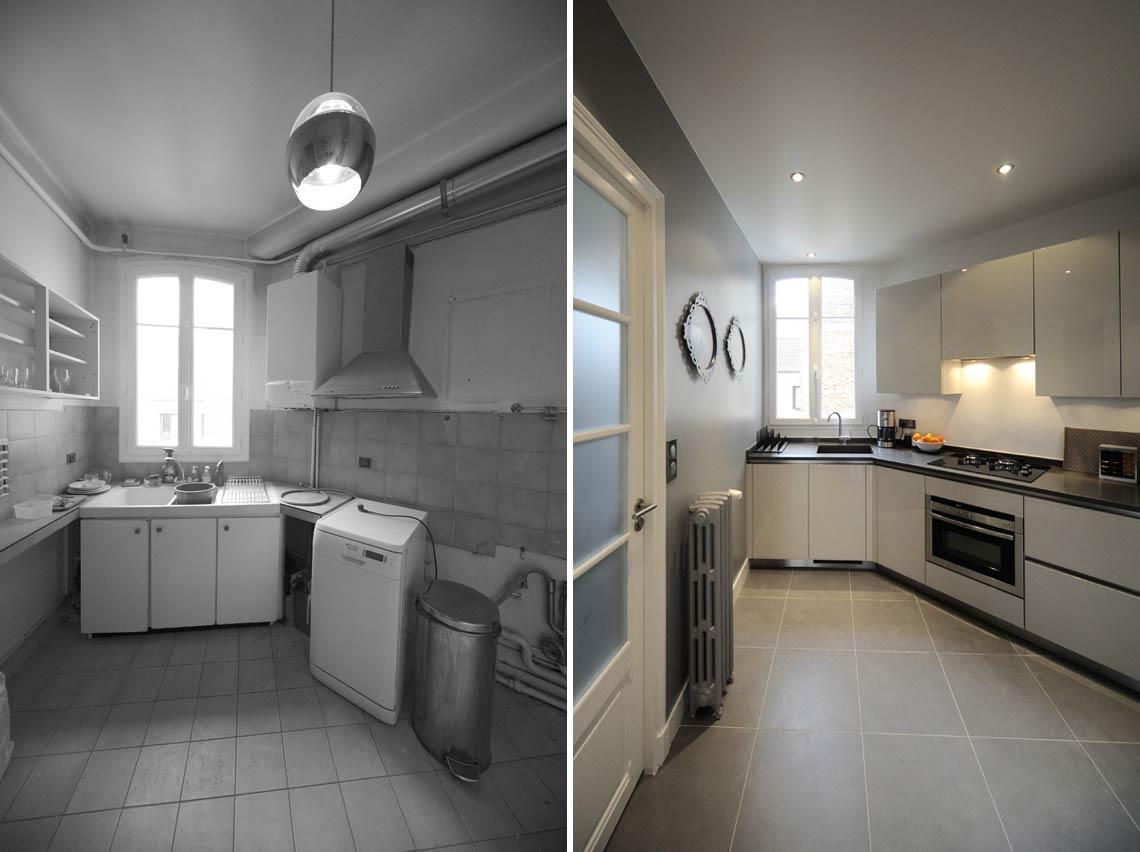 avant apr s transformation d 39 un appartement de 65m2 du 19e si cle. Black Bedroom Furniture Sets. Home Design Ideas