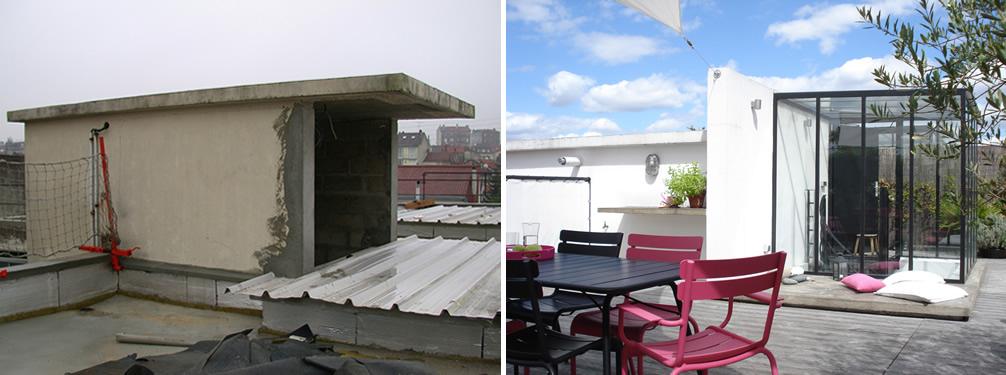amnagement dun toit terrasse sur un loft