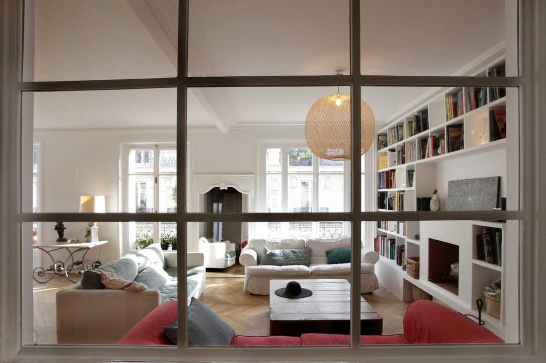 Rénovation d'un appartement haussmannien par architecte d'interieur rville