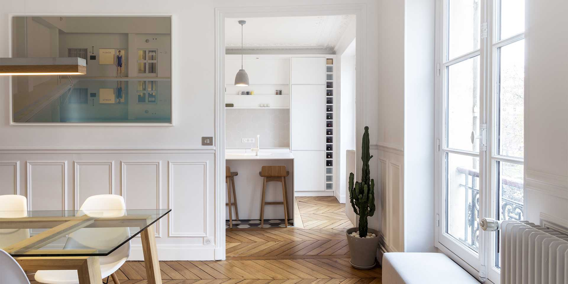 Haussmannian apartment redesigned by an architect in Montpellier
