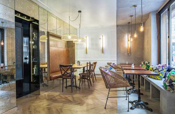 Haussmann style cafe-restaurant interior design